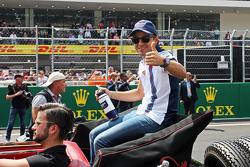 Felipe Massa, Williams en el desfile de pilotos.