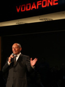 Ron Dennis on stage