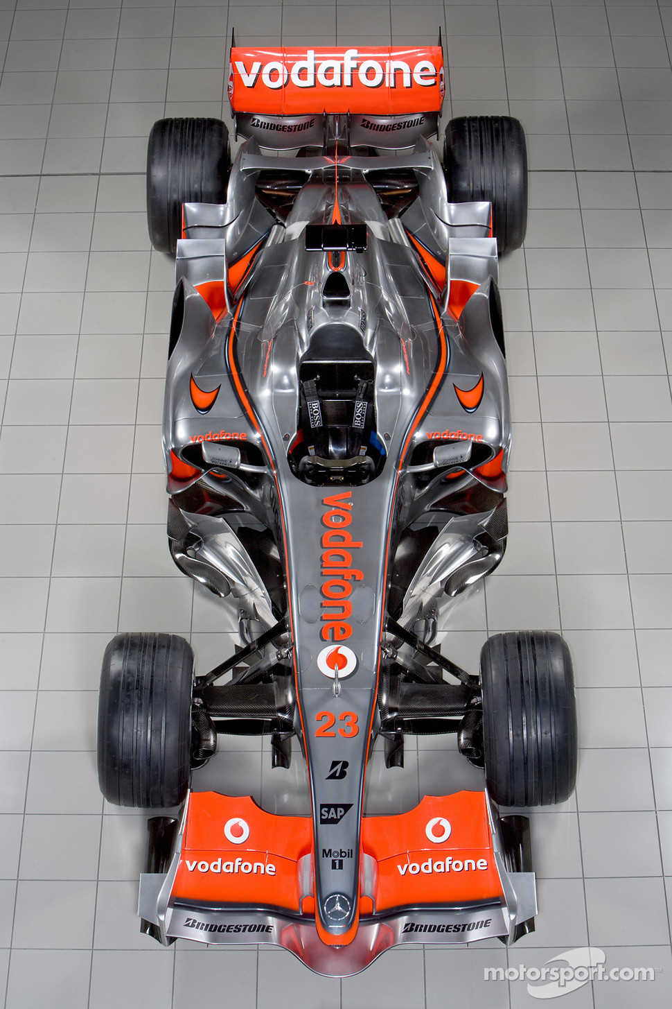 The new McLaren Mercedes MP4-23