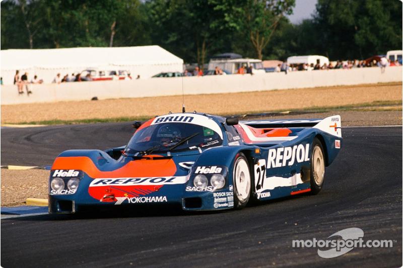 #27 Brun Motorsport Porsche 962 C: Franz Konrad, Rodolf Seher, Andres Vilarino