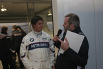 Graham Rahal with MC Steve Matchett