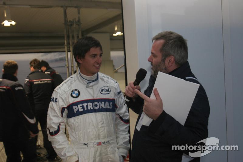 Graham Rahal with MC Steve Matchett