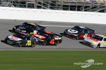 Jeremy Mayfield, Juan Pablo Montoya, Mark Martin, Reed Sorenson and Greg Biffle