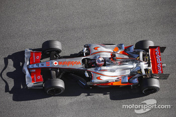 Heikki Kovalainen tests the new McLaren Mercedes MP4-23
