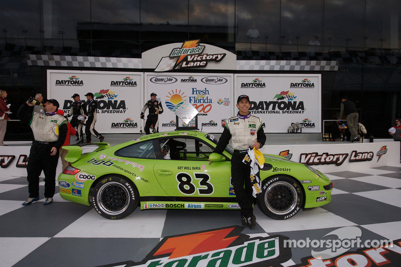 Victory lane: GS and overall winner Craig Stanton celebrates