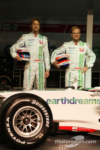 Jenson Button, Honda Racing F1 Team, Rubens Barrichello, Honda Racing F1 Team