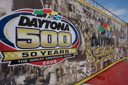 Daytona 500 signage at the media day