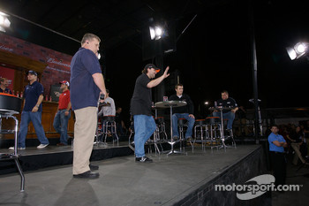 Daytona Shootout drivers appear on stage