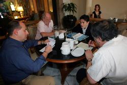 Media interviews for Giancarlo Fisichella