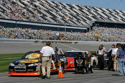 Bass Pro Shops Chevrolet of Martin Truex Jr. first in the qualifying line