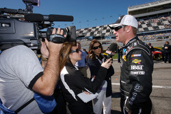 Clint Bowyer after his qualifying run
