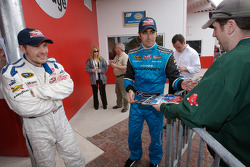 Raybestos Rookie of the Year radio-controlled car race event: Jacques Villeneuve and Dario Franchitti
