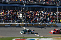 Dale Earnhardt Jr. takes the checkered flag