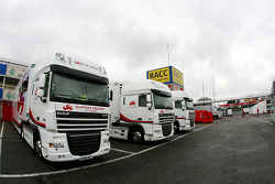 Super Aguri F1 Team trucks in the paddock