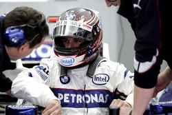 Christian Klien, BMW Sauber F1 Team, Pitlane, Box, Garage