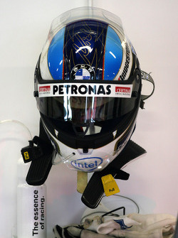 Helmet of Nick Heidfeld, BMW Sauber F1 Team, F1.08
