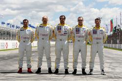 Jordi Gene, SEAT Sport, SEAT Leon TDI, Gabriele Tarquini, SEAT Sport, SEAT Leon TDI, Yvan Muller, SEAT Sport, SEAT Leon TDI, Rickard Rydell, SEAT Sport, SEAT Leon TDI, Tiago Monteiro, SEAT Sport, SEAT Leon TDI