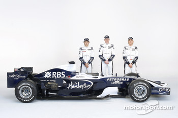 Kazuki Nakajima, Nico Hulkenberg and Nico Rosberg with the new Williams FW30