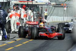 Pit stop for Lewis Hamilton, McLaren Mercedes