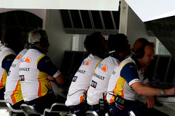 Renault F1 Team, personnel on the pitwall