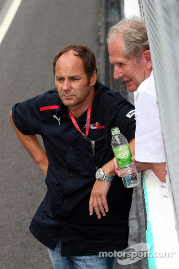 Co-owner Gerhard Berger and motorsport consultant of Red Bull Helmut Marko