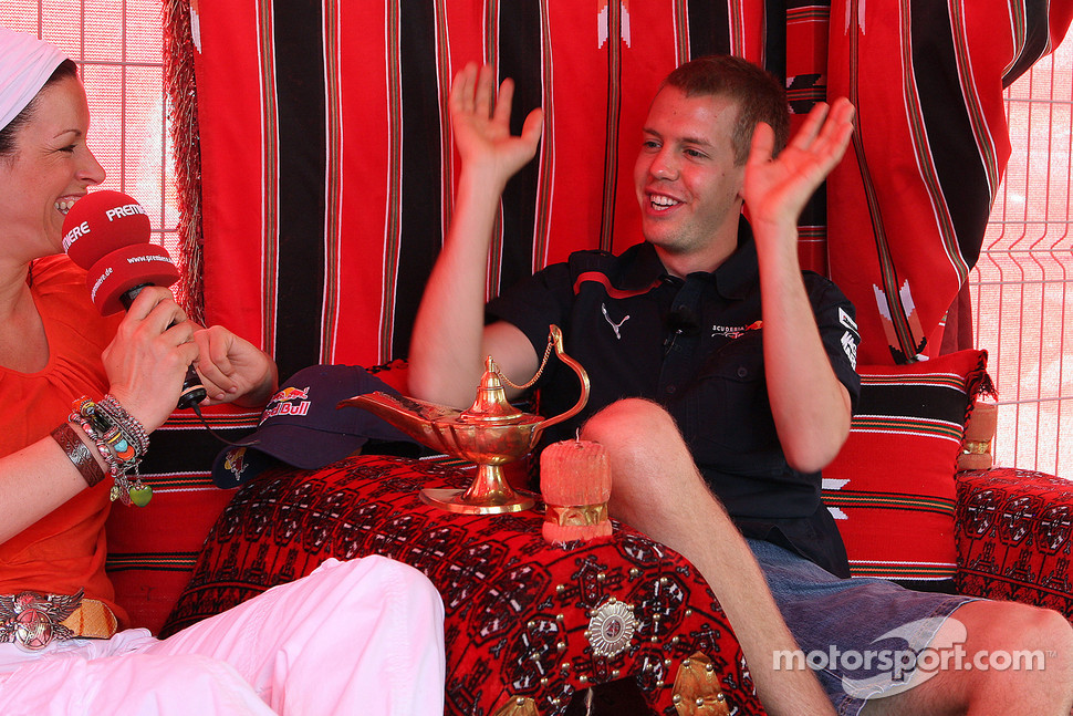 Tanja Bauer and Sebastian Vettel