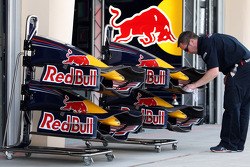 Red Bull Racing pit area