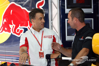 Jean Alesi and Kenny Handkammer