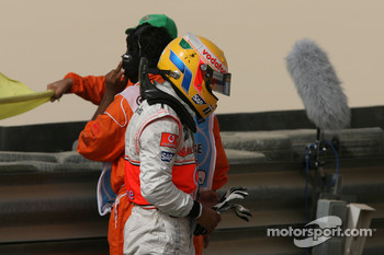 Lewis Hamilton, McLaren Mercedes after his crash in FP2