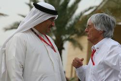 Muhammed Al Khalifa Chairman of Bahrain circuit with Bernie Ecclestone