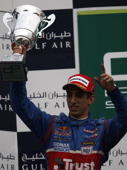 Sebastien Buemi on the podium