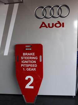 #2 Audi Sport Team Joest Audi R10 TDI pit board