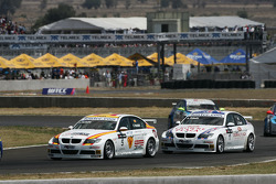 Felix Porteiro, BMW Team Italy-Spain, BMW 320si and Andy Priaulx, BMW Team UK, BMW 320si WTCC