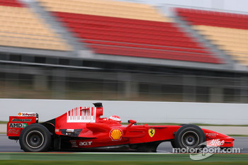 Michael Schumacher, Test Driver, Scuderia Ferrari, on slick