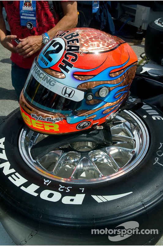 Special helmet for Jimmy Vasser