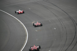 Helio Castroneves, Scott Dixon and Dan Wheldon