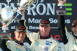 GT1 podium: class winners Johnny O'Connell and Jan Magnussen