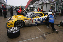 Pit stop for #6 Phoenix Racing Corvette C6R: Mike Hezemans, Fabrizio Gollin