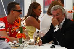 Michael Schumacher, Test Driver, Scuderia Ferrari and Willi Weber, Driver Manager