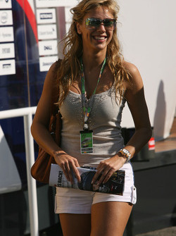 A girl in the paddock