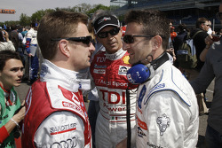 Allan McNish, Rinaldo Capello and Nicolas Minassian