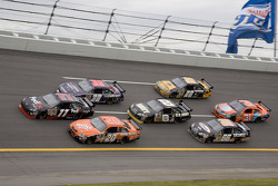 Denny Hamlin and Tony Stewart battle in turn four