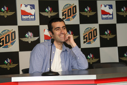 2007 Indianapolis 500 Champion Dario Franchitti in town to accept his awards for winning last years race takes questions from the media