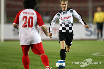 Football match Nazionale Piloti vs All Stars Team in Stadium of Galatasaray, Istanbul: Sebastian Vettel, Scuderia Toro Rosso