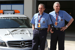 FIA Medical Staff, Jacques Tropenat FIA, Medical Car Driver of Formula 1 and GP2 and Jean-Charles Piette, FIA Formula One Medical Delegate