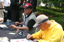 Mel Kenyon and Bill Vukovich Jr. sign autographs