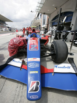 Wrecked car of Bruno Senna