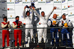 LMP2 podium: class winners Jos Verstappen and Peter Van Merksteijn, second place Jan Lammers, Didier Theys and Fredy Lienhard, third place Casper Elgaard and John Nielsen