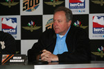 IndyCar President Brian Barnhart during press interview on day two of qualifications