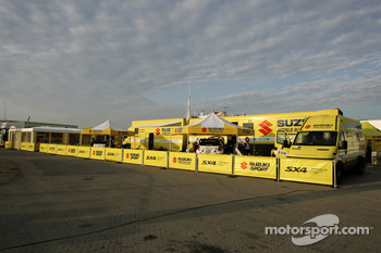 Suzuki World Rally Team service area